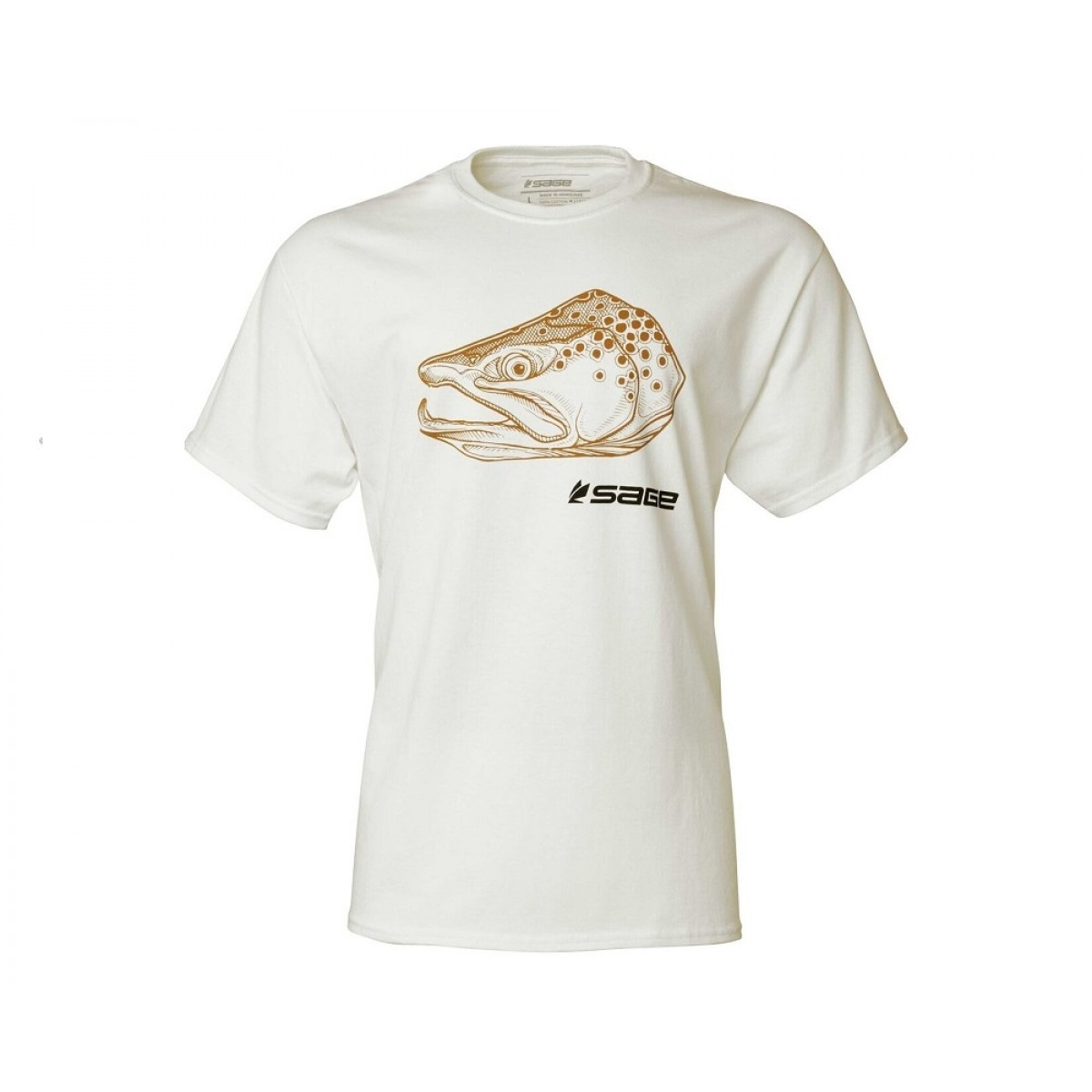 SAGE Brown Trout Head Tee ee357d8e30d5