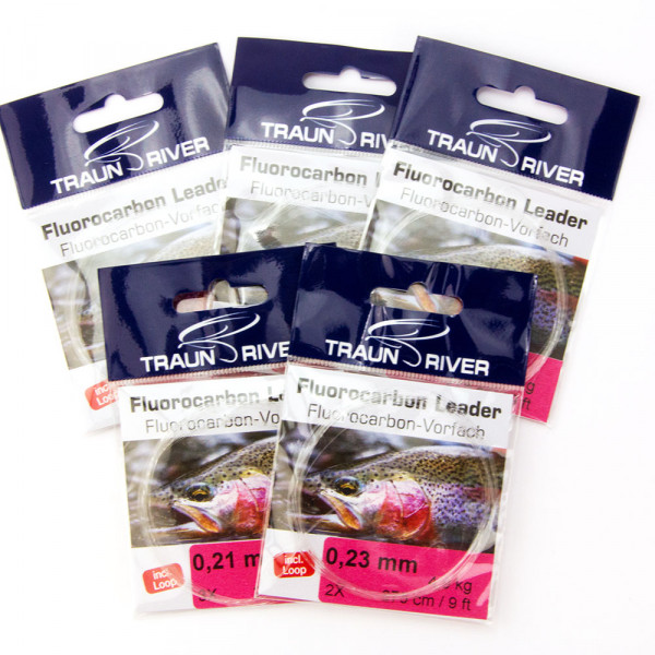 TRAUN RIVER 5-Pack Fluorocabon Leaders