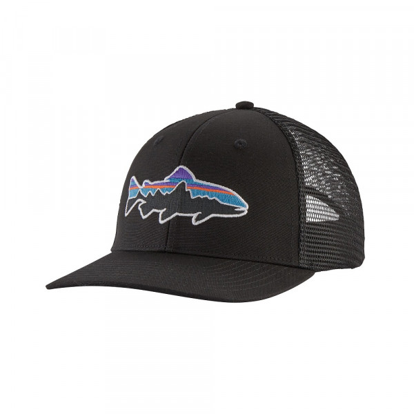 Patagonia Fitz Roy Trout Trucker Hat, black