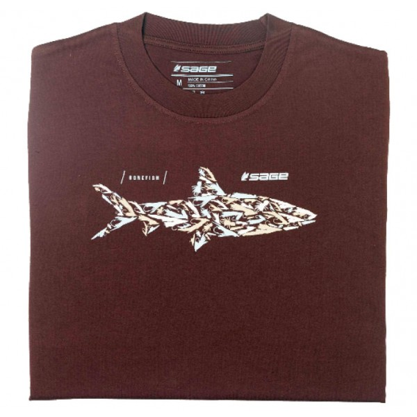 SAGE Bonefish Flies Tee espresso