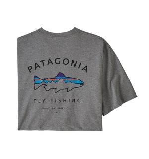 Patagonia M's Framed Fitz Roy Trout Responsibili-Tee, gravel heather