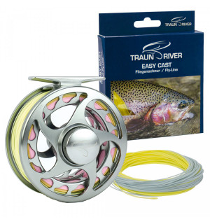 TRAUN RIVER Drop (gun metal) Rolle & Easy Cast Schnur