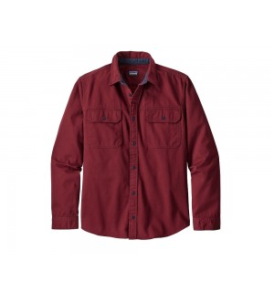 Patagonia L/S Four Canyons Twill Shirt, oxide red