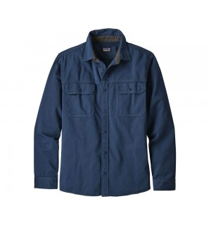 Patagonia L/S Four Canyons Twill Shirt, stone blue