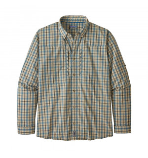 Patagonia M's L/S Sun Stretch Shirt, watershed: smolder blue