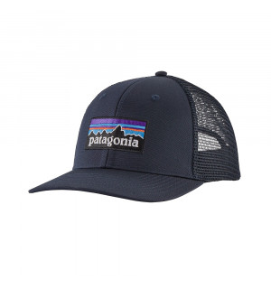 Patagonia P6 Logo Trucker Hat, navy blue