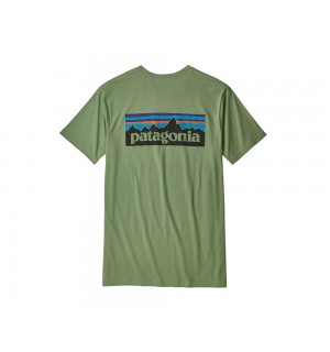 Patagonia P6 Logo T-Shirt, matcher green (hinten)