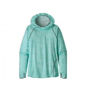Patagonia Womens Sunshade Hoody, bend blue