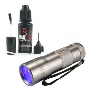 RaidZap UV Resin Set (Medium 15 ml & UV Lampe)