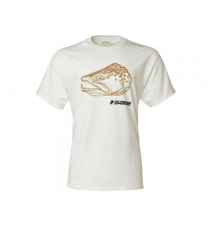 SAGE Brown Trout Head Tee, white