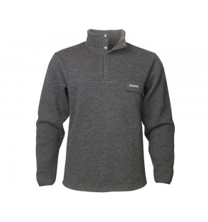 SAGE Wool Pullover, charcoal/heather
