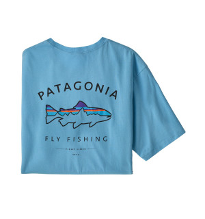 Patagonia M's Framed Fitz Roy Trout Organic Cotton T-Shirt, lago blue