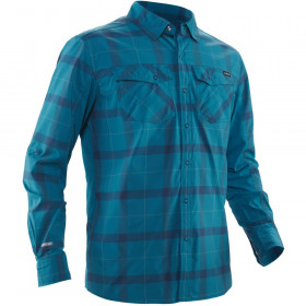 NRS Men's Langarm Guide Shirt, Fjord