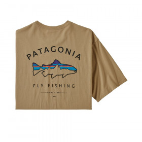 Patagonia M's Framed Fitz Roy Trout Organic Cotton T-Shirt, classic tan