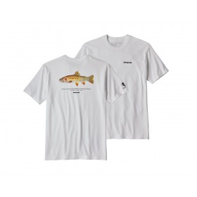 Patagonia Greenback Cutthroat World Trout Responsibili Tee, white