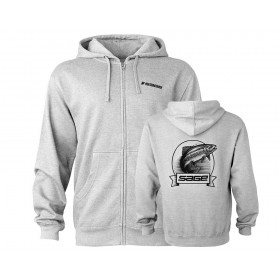 SAGE Heritage Zip Up Hoody, heather grey