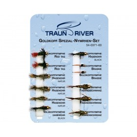 TRAUN RIVER Goldkopf Spezial Nymphen Set