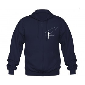 TRAUN RIVER Zip-Hoody french navy