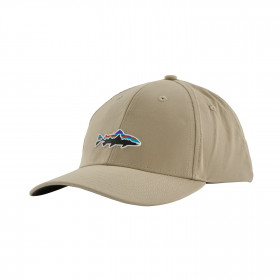 Patagonia Fitz Roy Trout Channel Watcher Cap, el cap khaki
