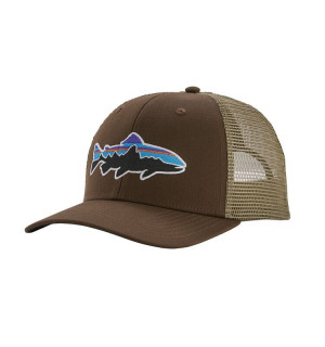 Patagonia Fitz Roy Trout Trucker Hat, classic navy drifter grey
