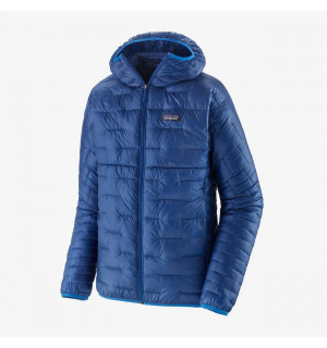 superior blue - micro puff hoody