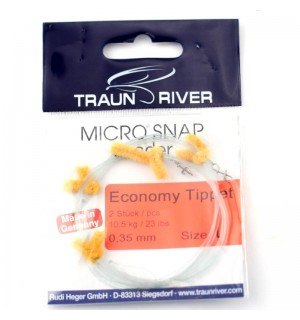 "TRAUN RIVER Micro Snap ""Economy"" Tippet"