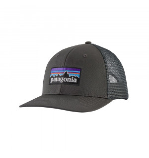 Patagonia P6 Logo Trucker Hat, forge grey