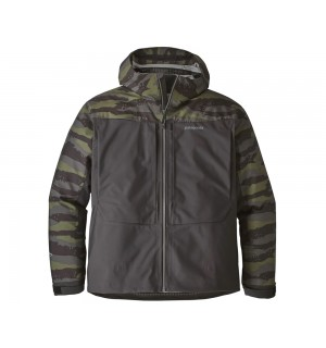 Patagonia River Salt Jacket, rock camo: ink black