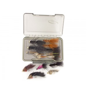 TRAUN RIVER Forellen-Streamer-Set inkl. wasserdichter Box