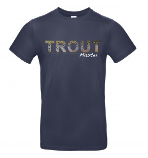 TRAUN RIVER Trout Master T-Shirt, navy