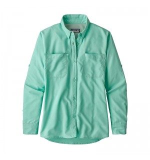 Patagonia Womens Sol Patrol Shirt, bend blue