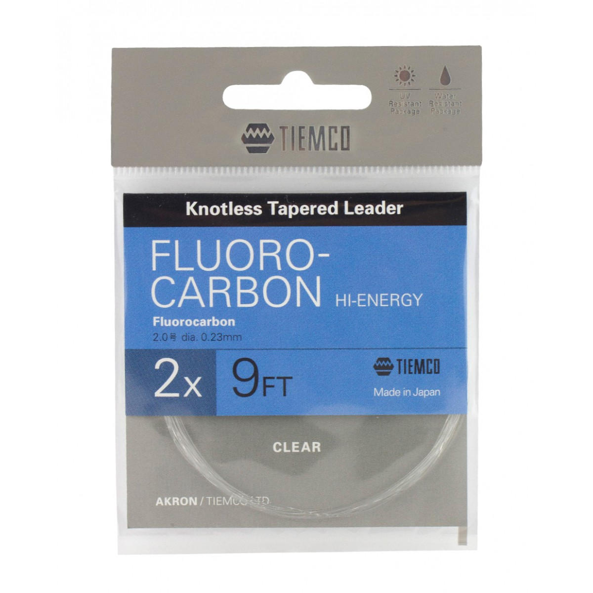 Flourocarbon Knoxless Tapered Leaders 9 ft 1x