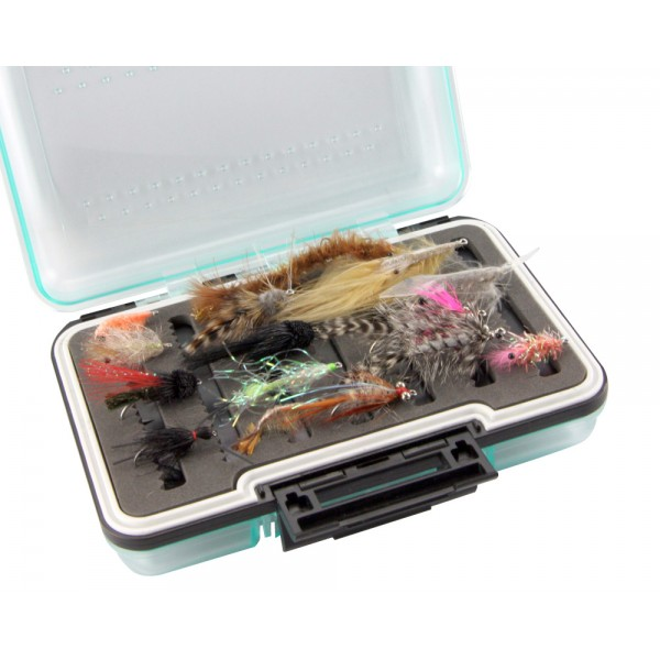 15 Super sea trout flies in box