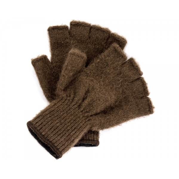 Buffalo Gold Bison Fingerless Gloves