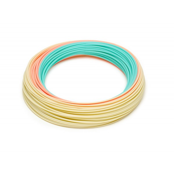 RIO DirectCore Flats Pro Floating Fly Line (Aqua / Orange / Sand)