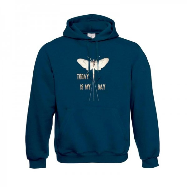 TRAUN RIVER Hoody Today is My Day, navy
