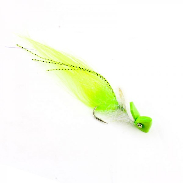 Top Water shrimp, chartreuse/white #2/0