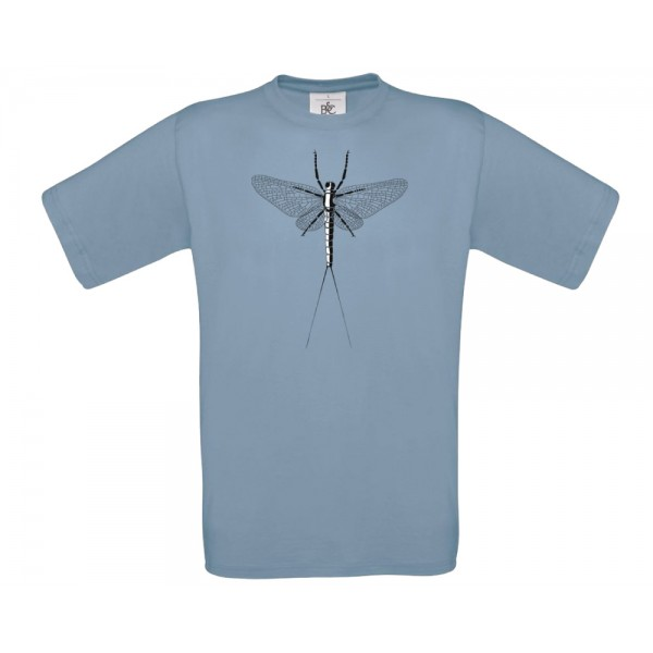 TRAUN RIVER T-Shirt Mayfly Spent, stone blue