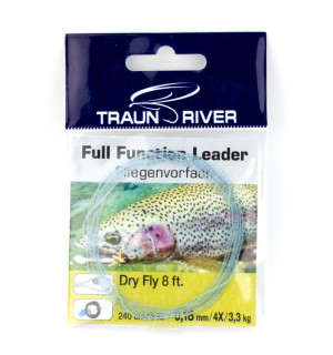 TRAUN RIVER Dry Fly 8 ft Braided Leader