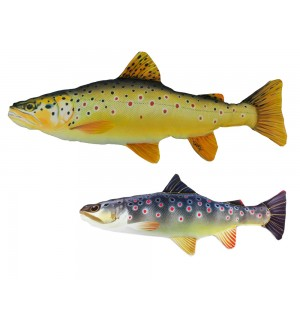Brown Trout Fabric Fish Set