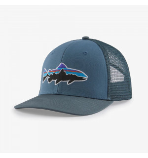 Patagonia Fitz Roy Trout Trucker Hat, pigeon blue