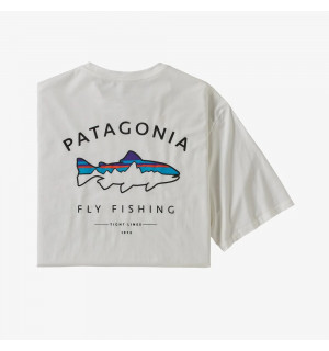 Patagonia M's Framed Fitz Roy Trout Organic Cotton T-Shirt, white