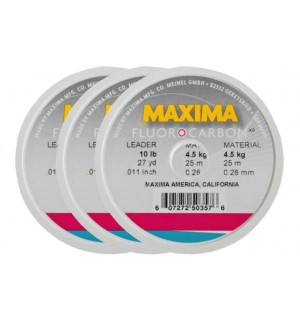 3 Pack MAXIMA Fluorocarbon