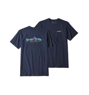Patagonia Fitz Roy Trout Responsibili-Tee, classic navy