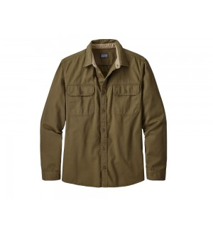 Patagonia L/S Four Canyons Twill Shirt, cargo green