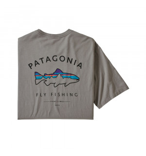 Patagonia M's Framed Fitz Roy Trout Organic Cotton T-Shirt, feather grey