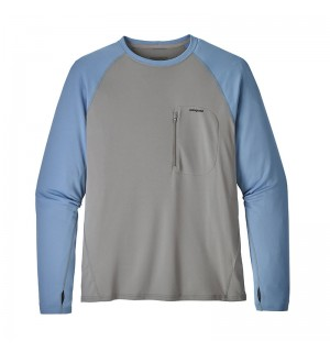 Patagonia Sunshade Crew, feather grey/ railroad blue