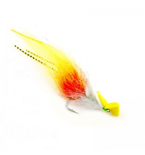 Top Water shrimp, yellow/white #2/0