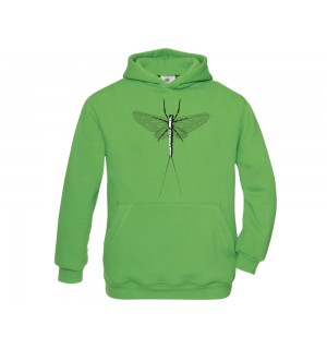 TRAUN RIVER Hoody Mayfly Spent, real green