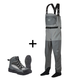 TRAUN RIVER Wading Outfit Gold (River Grip)